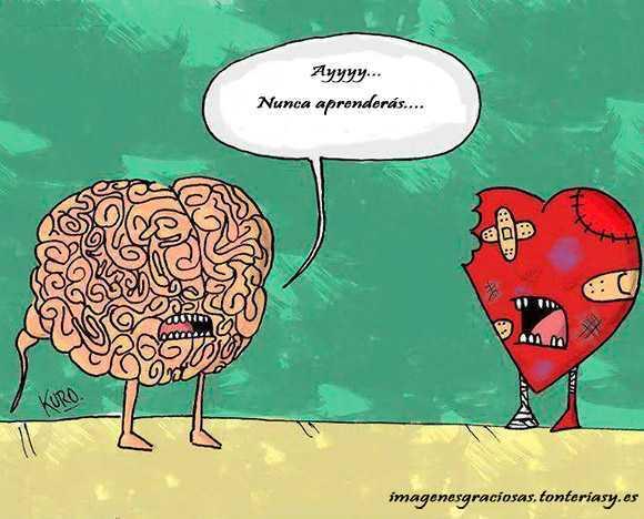 el corazón esta marchito por no hacer caso al cerebro