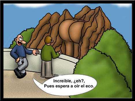 montaña esculpida con forma de nalga