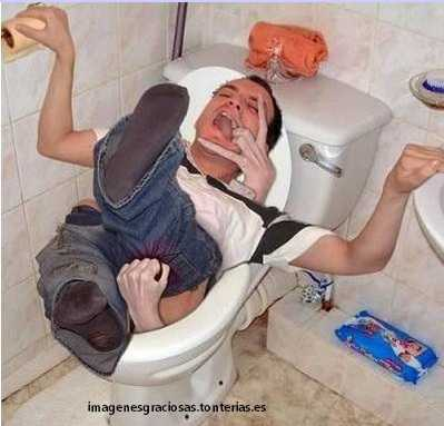 que te agarren en el wc, es un susto muy grande