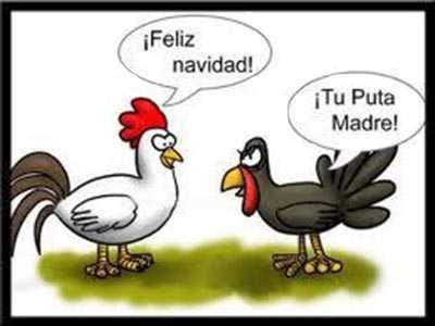 imagenes graciosas en tiras de humor de una gallina y un pavo