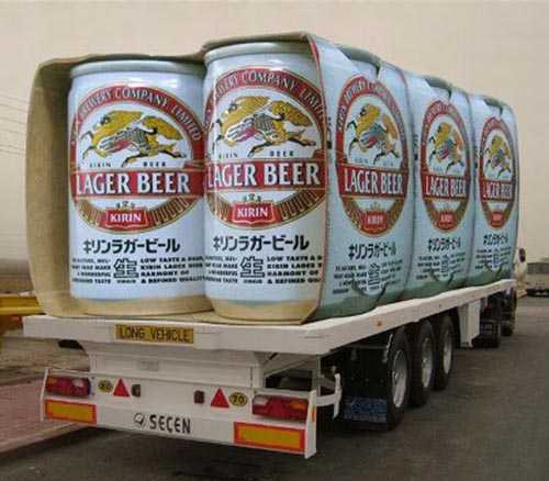 latas de cerveza enormes