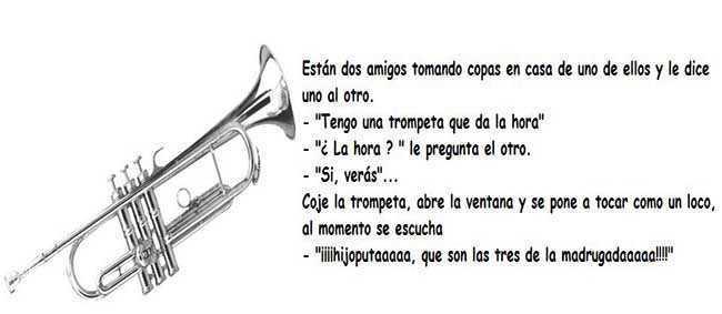 chiste de trompeta