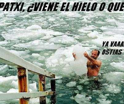 un hombre con in iceberg