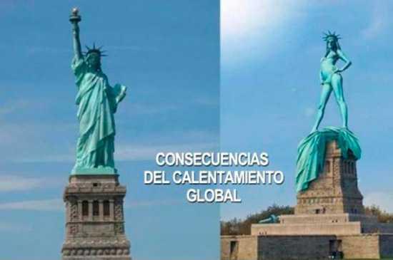 estatua de la libertad en dos imagenes