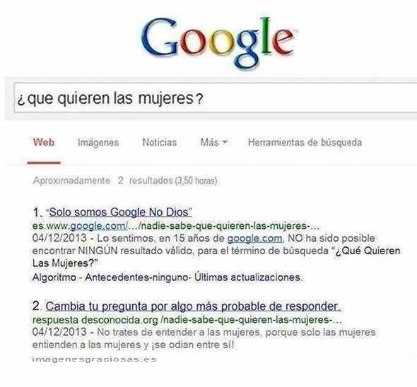 ni google sabe lo que quieren las mujeres