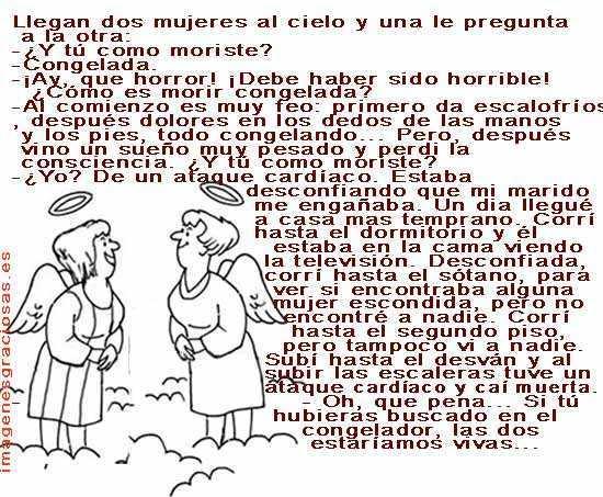 Dos mujeres en el cielo