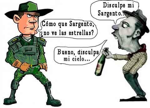 Borracho y militar