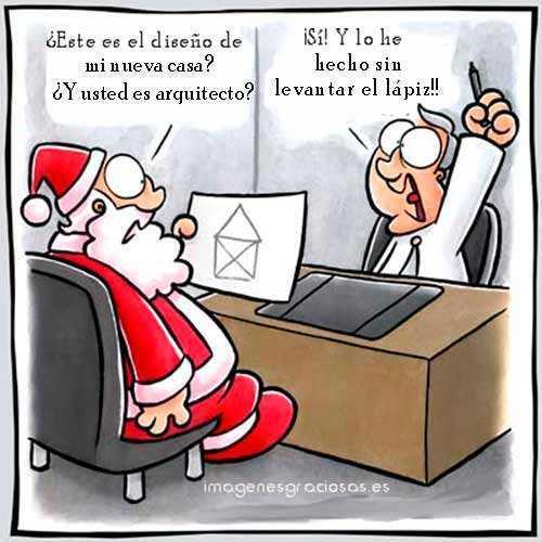 imagen graciosa con Santa Claus