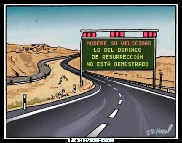 cartel de carretra gracioso