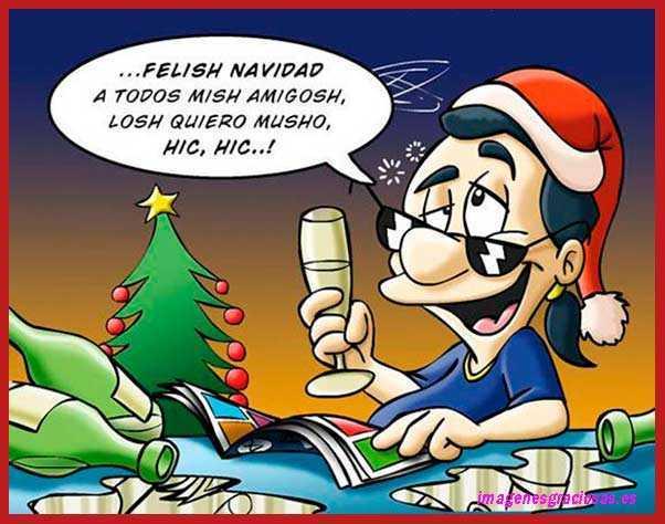 Borrachito felicitando la Navidad
