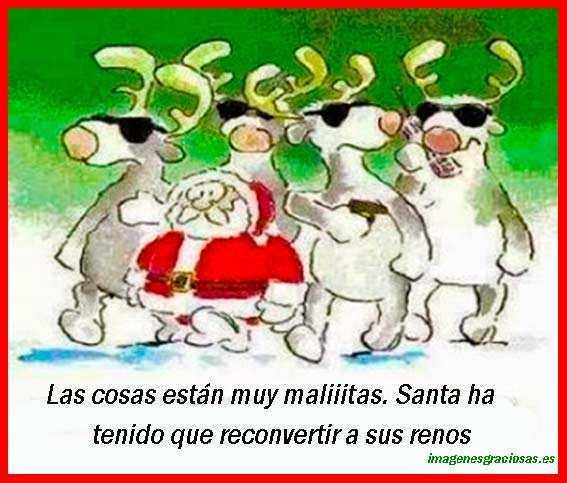 Los renos de Santa Claus de guardaespaldas
